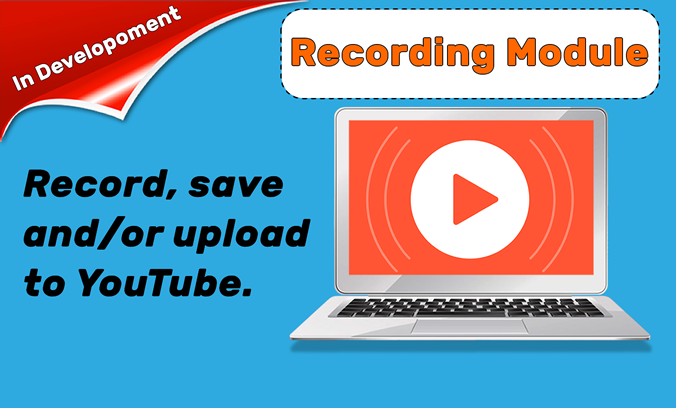 Record, save and/or upload webinars to YouTube.