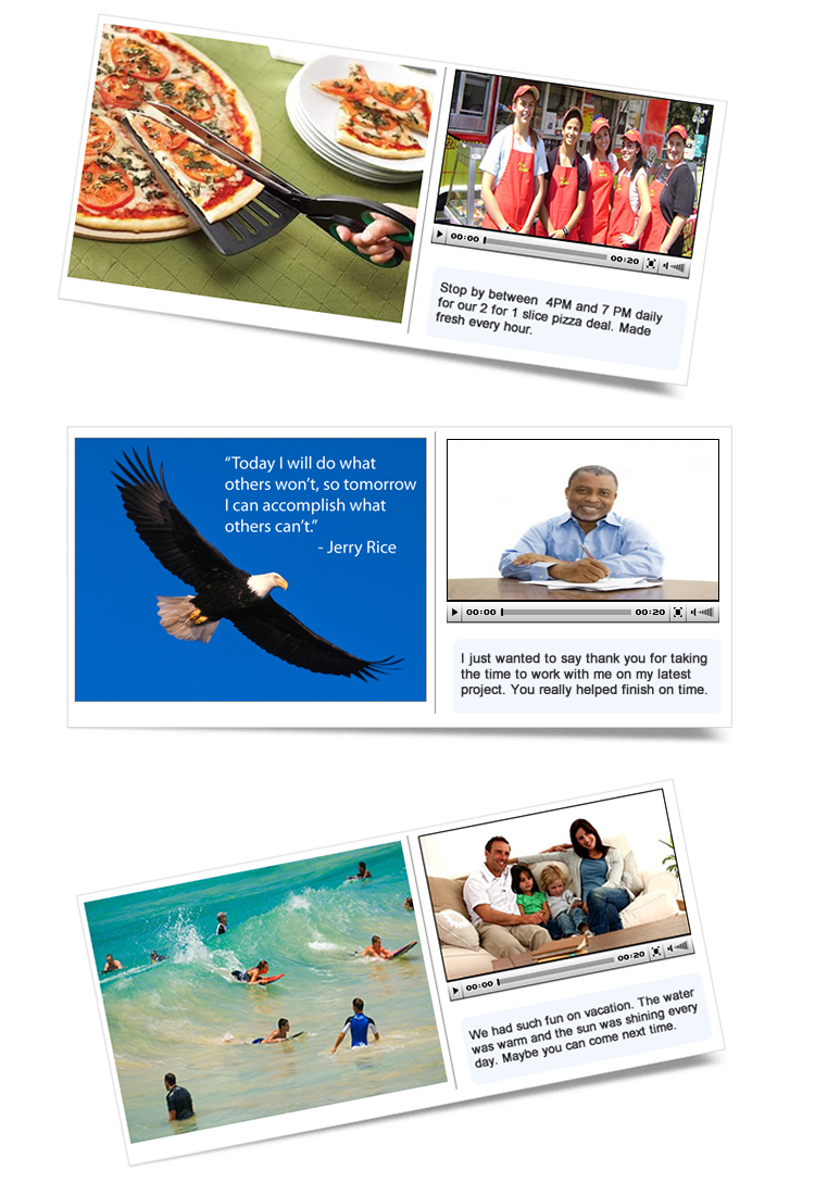 video email postcards